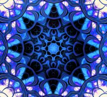 """On the Edge of Bliss"" (Blue Tones) - Geometric Abstract Mandala  Sticker"