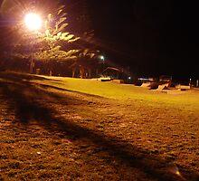 Harrington Skate Park after dark by Graham Mewburn