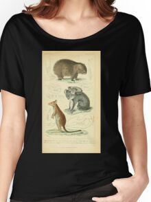 The Animal Kingdom by Georges Cuvier, PA Latreille, and Henry McMurtrie 1834 599 - Mammalia Mammals Women's Relaxed Fit T-Shirt
