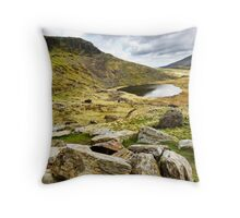 Llyn Teryn  - Snowdonia Throw Pillow