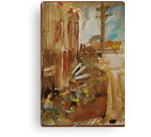 City landscape.  Railway bits n pieces.  Canvas Print