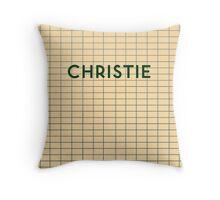 CHRISTIE Subway Station Throw Pillow