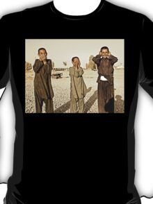 """Hear No Evil, See No Evil, Speak No Evil - Kandahar Afghanistan"" T-Shirt"