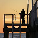 Lone Fisherman by Trish Woodford