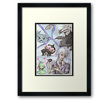Peter Stone and his team! Framed Print