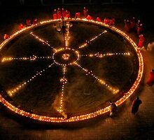 Dharma Wheel Puja by Rene Edde