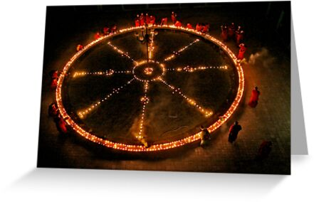 Dharma Wheel Puja by Rene Edde