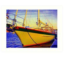 Head-on Full Color Sailboat Art Print