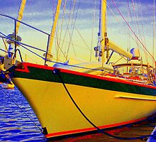 Head-on Full Color Sailboat by rtographsbyrolf
