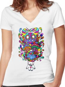 Demons in my Head Women's Fitted V-Neck T-Shirt