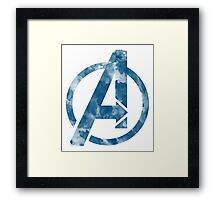 Watercolor Avengers Framed Print