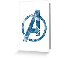 Watercolor Avengers Greeting Card
