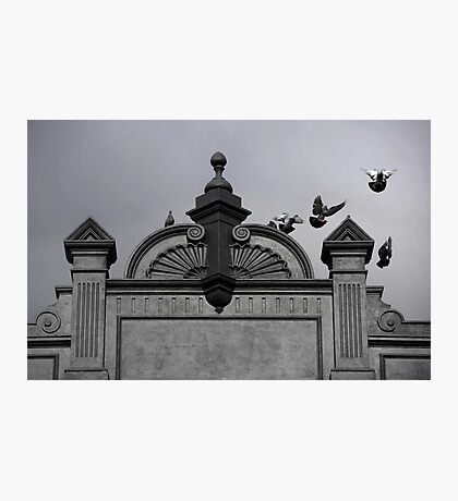 Black Sky, Black Building, Perth, Western Australia. Photographic Print