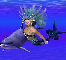 Princess of the oceans .. swimming with dolphins by LoneAngel