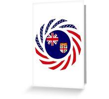 Fijian American Multinational Patriot Flag Series Greeting Card