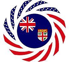 Fijian American Multinational Patriot Flag Series Photographic Print