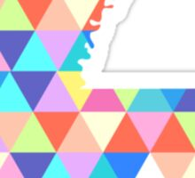Louisana Colorful Hipster Geometric Triangles New Orleans Sticker