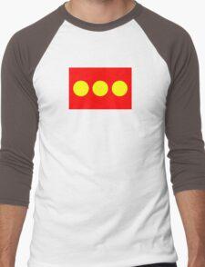 Flag of Freetown Christiania Men's Baseball ¾ T-Shirt