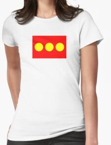 Flag of Freetown Christiania Womens Fitted T-Shirt