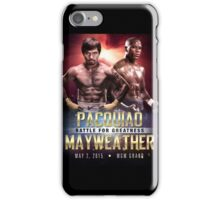 """Pacquiao vs Mayweather """"Battle for Greatness"""" iPhone Case/Skin"""