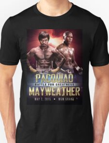"Pacquiao vs Mayweather ""Battle for Greatness"" Unisex T-Shirt"