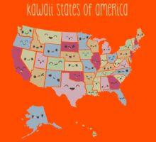 Kawaii States of America Kids Tee