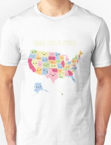 Kawaii States of America Unisex T-Shirt