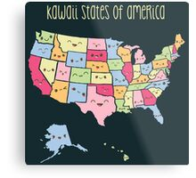 Kawaii States of America Metal Print
