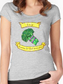 lemme hit that broccolini Women's Fitted Scoop T-Shirt