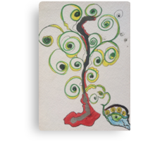 twirly tree dream Canvas Print