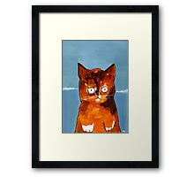 Orange Paws and Booze for Miles Framed Print