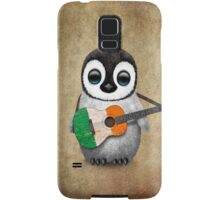 Baby Penguin Playing Irish Flag Guitar Samsung Galaxy Case/Skin