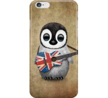 Baby Penguin Playing British Flag Guitar iPhone Case/Skin
