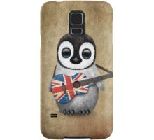 Baby Penguin Playing British Flag Guitar Samsung Galaxy Case/Skin