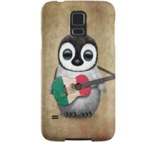 Baby Penguin Playing Mexican Flag Guitar Samsung Galaxy Case/Skin