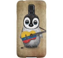 Baby Penguin Playing Colombian Flag Guitar Samsung Galaxy Case/Skin