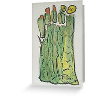 alien forest Greeting Card