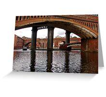 Castlefield Bridges, Manchester Greeting Card