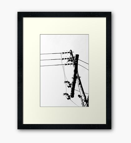 Reaching up and somehow reaching Framed Print