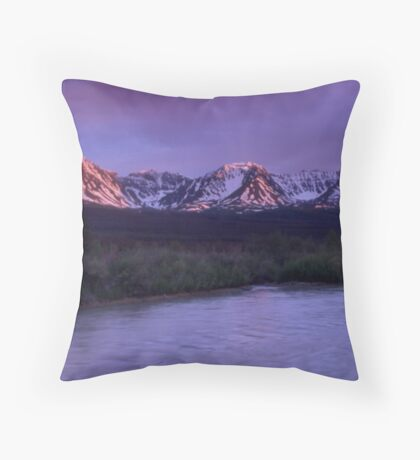 Haines Junction Alpenglow Throw Pillow