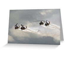 Cobras On The Attack Greeting Card