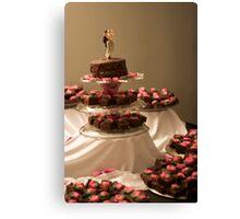 Brownie Cake Canvas Print
