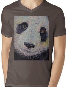 Panda Portrait Mens V-Neck T-Shirt