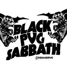 black pug sabbath by darklordpug