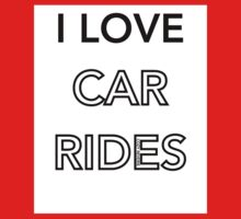 I Love Car Rides Kids Tee