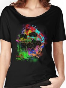 Colorful Skull Women's Relaxed Fit T-Shirt