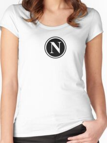 Circle Monogram N Women's Fitted Scoop T-Shirt