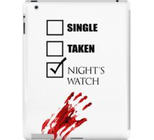 Single Taken Nights Watch iPad Case/Skin