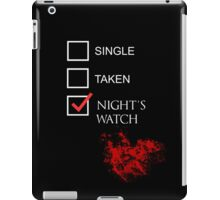 Single Taken Nights Watch Bloody Shirt iPad Case/Skin