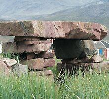 Medieval Tithe Barn, Igaliku, Greenland by soletlune